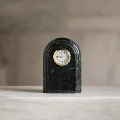 Vermont Verde Antique Marble Arch Clock