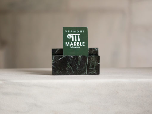 Vermont Verde Antique Marble business card holder