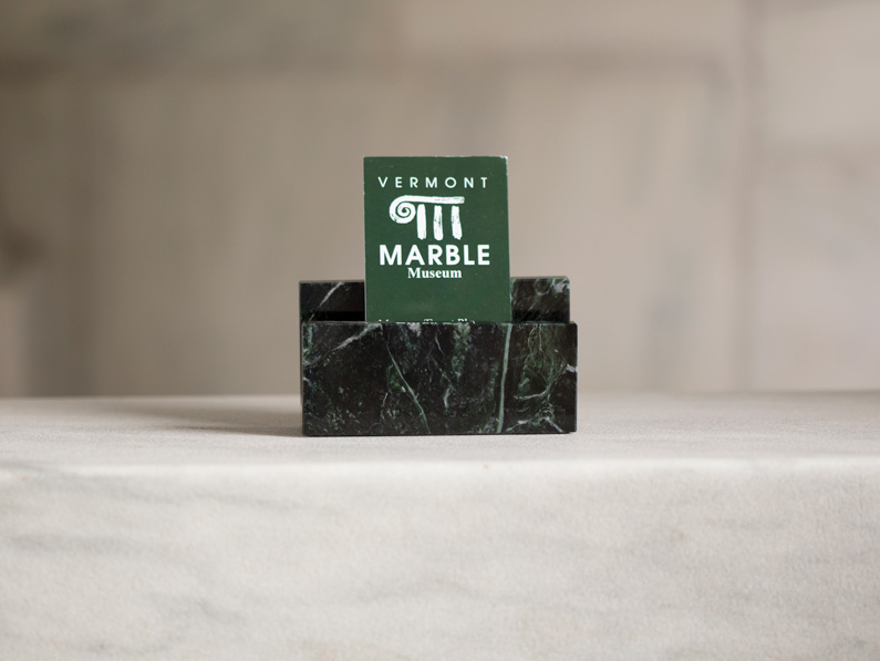 Vermont Verde Antique Marble Business Card Holder Vermont Marble