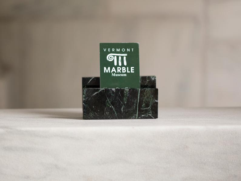 Vermont Verde Antique Marble business card holder