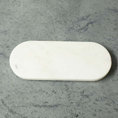 Danby white marble oval cheeseboard
