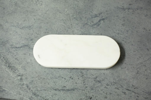 Vermont Danby White Marble Oval Cheese Board Vermont