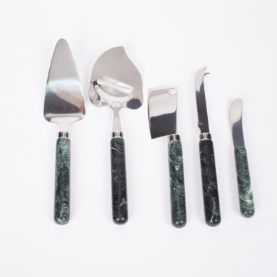Vermont Verde Antique Marble Cheese Utensils