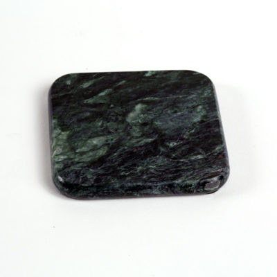 antique verde marble coaster