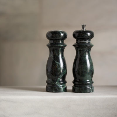 "Vermont Verde Marble 6"" salt & pepper mill"