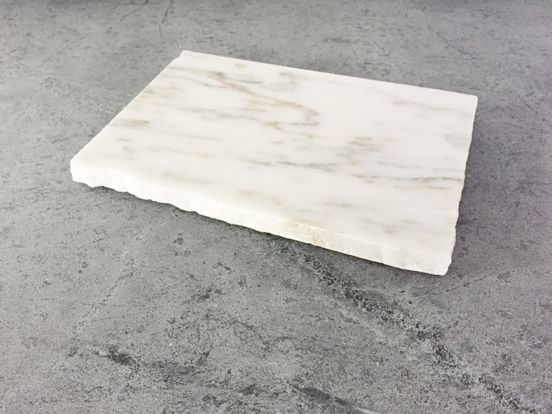 Danby White Marble Rough Edge Cheese Board Vermont