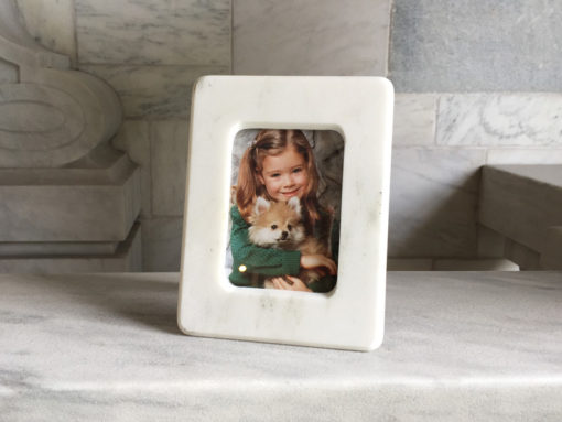 Danby White Marble Picture Frame 3x5.5