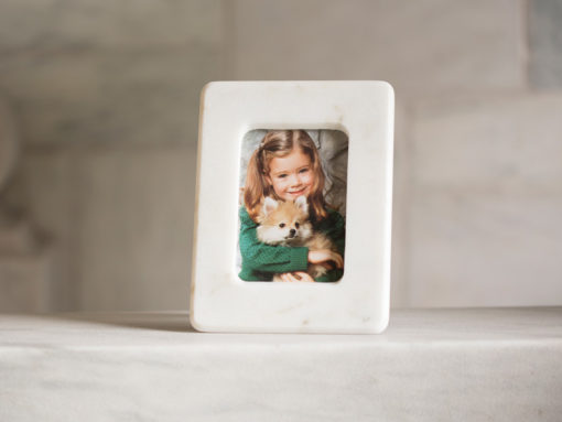 Danby White Marble Picture Frame 4x6