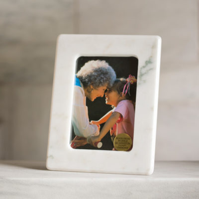 Danby White Marble Picture Frame 5x7