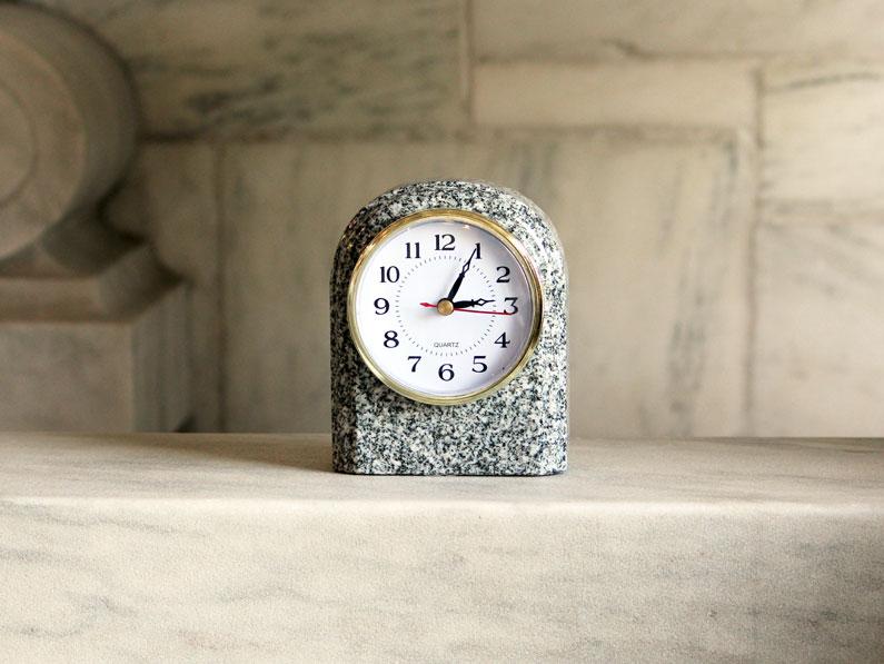 Granite Arch Clock Barre Gray Vermont Marble Museum
