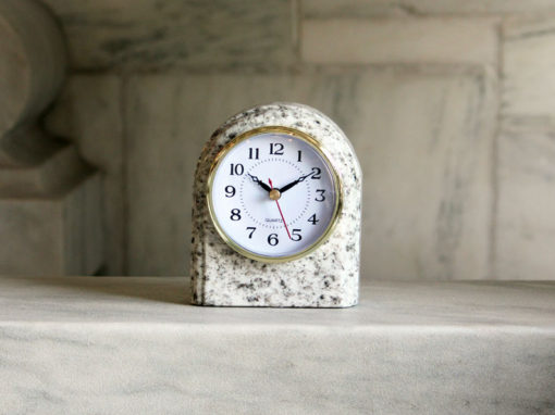 Granite Arch Clock Bethel White