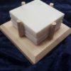 White Danby Marble Coaster Set