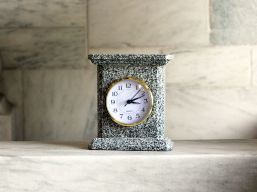 Granite Mantel Clock Barre Gray