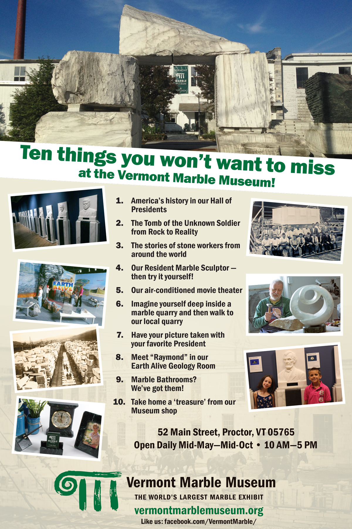 Vermont Marble Museum top ten things to see